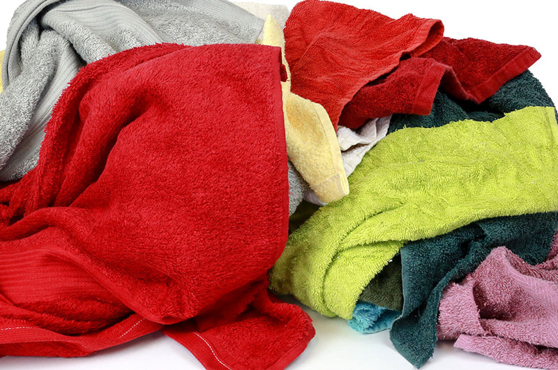 Rags Cloth Towels 20 Pack Red Industrial Grade Cotton Shop