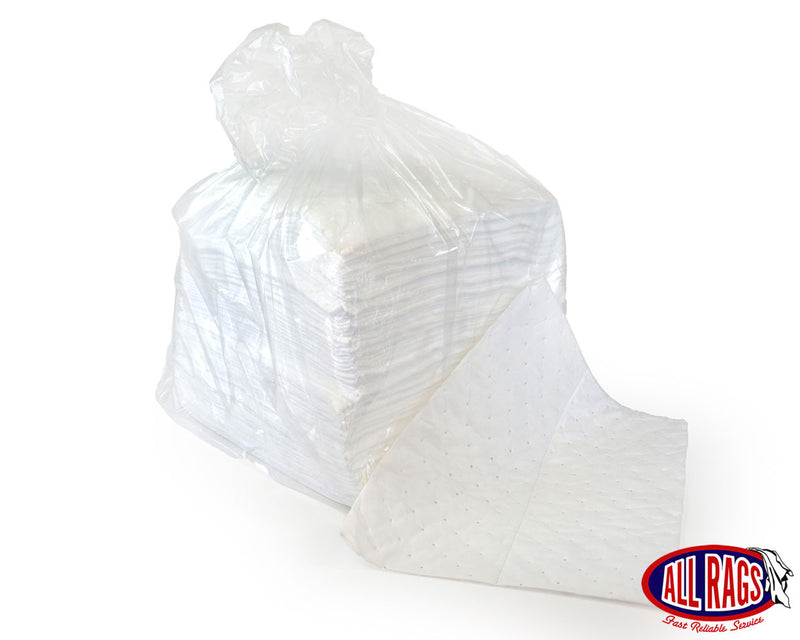 White Oil Only Absorbent Pads Medium Weight