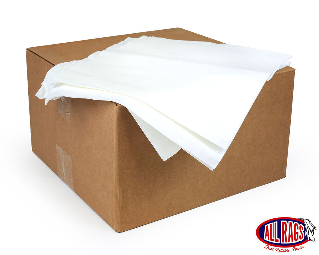 White Airlaid Flat Pack Wipe 1500