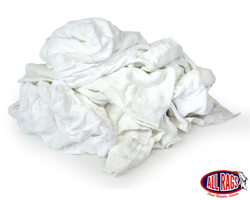 Recycled White Thermal Wiping Rag