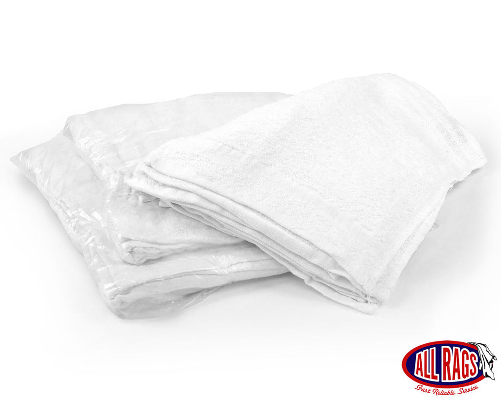 New White Cotton Terry Cloth Washcloth