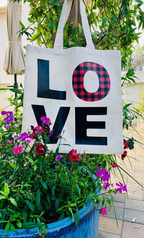 "Recyclable Tote Bag ""LOVE"""