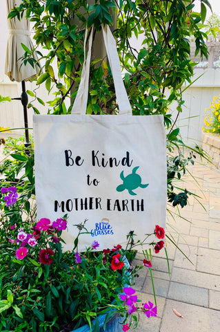 "Recyclable Tote Bag ""Be Kind to Mother Earth"""