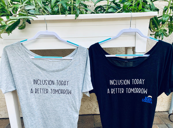 "Woman's Slouchy T-shirt ""Inclusion Today"""