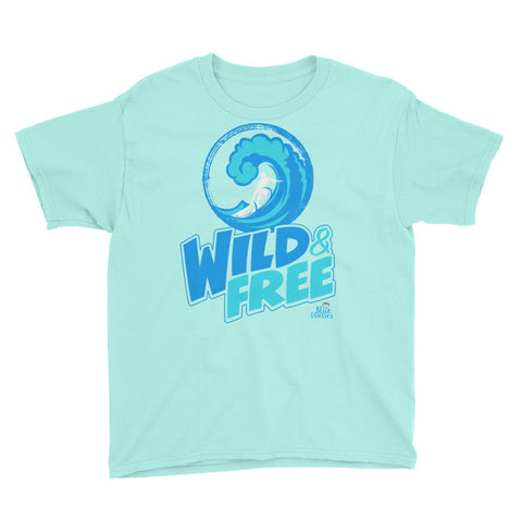"Boy's Short Sleeve T-Shirt ""Wild & Free"""