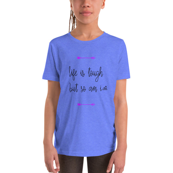 "Girl's Short Sleeve T-Shirt ""Tough"""