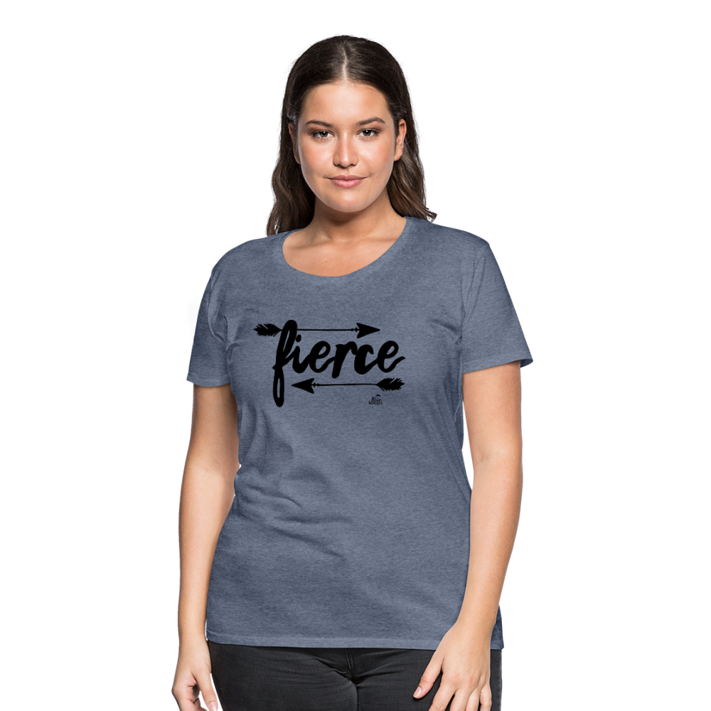 "Women's T-shirt ""fierce"" - heather blue"