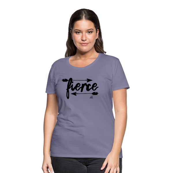 "Women's T-shirt ""fierce"" - washed violet"