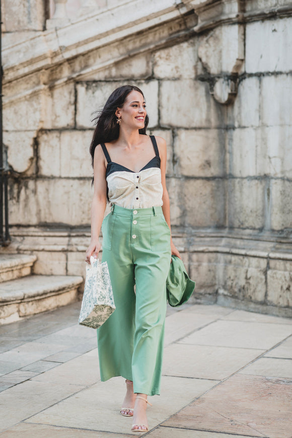 Marlene Trousers - Green - Organic Cotton