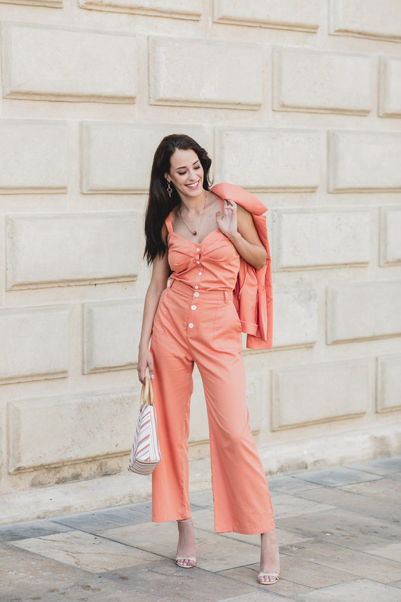 Marlene Trousers - Orange - Organic Cotton