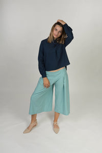 Pleat trousers - Turquoise