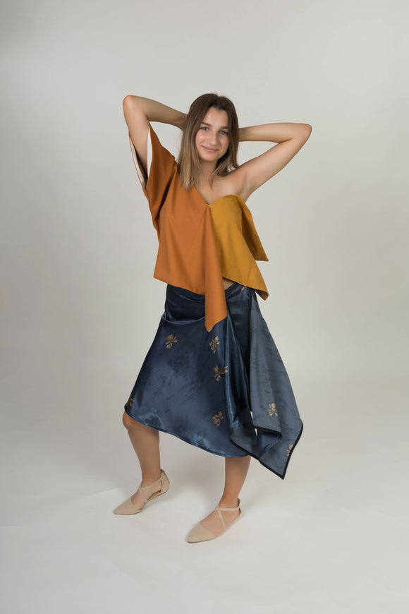 Asymmetric skirt - Viscose