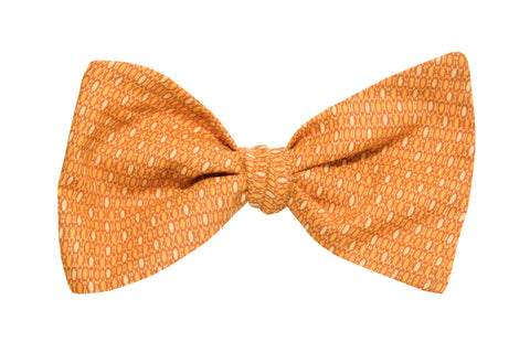 Bubble Sheet Orange Adult Bow Tie