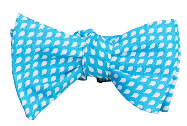 Blue Raindrops Youth Bow Tie