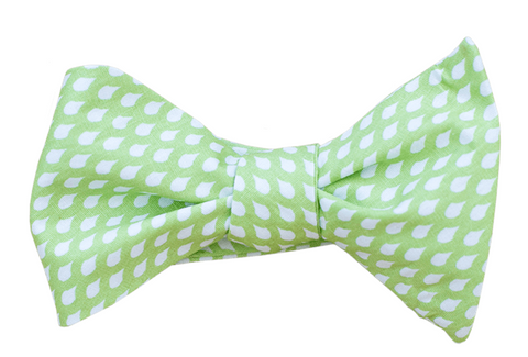 Green Raindrops Youth Bow Tie