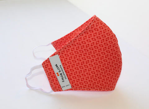 GoMo ADULT Face Mask - Salmon Stars