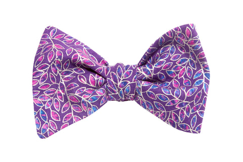Gladys Purple Youth Bow Tie