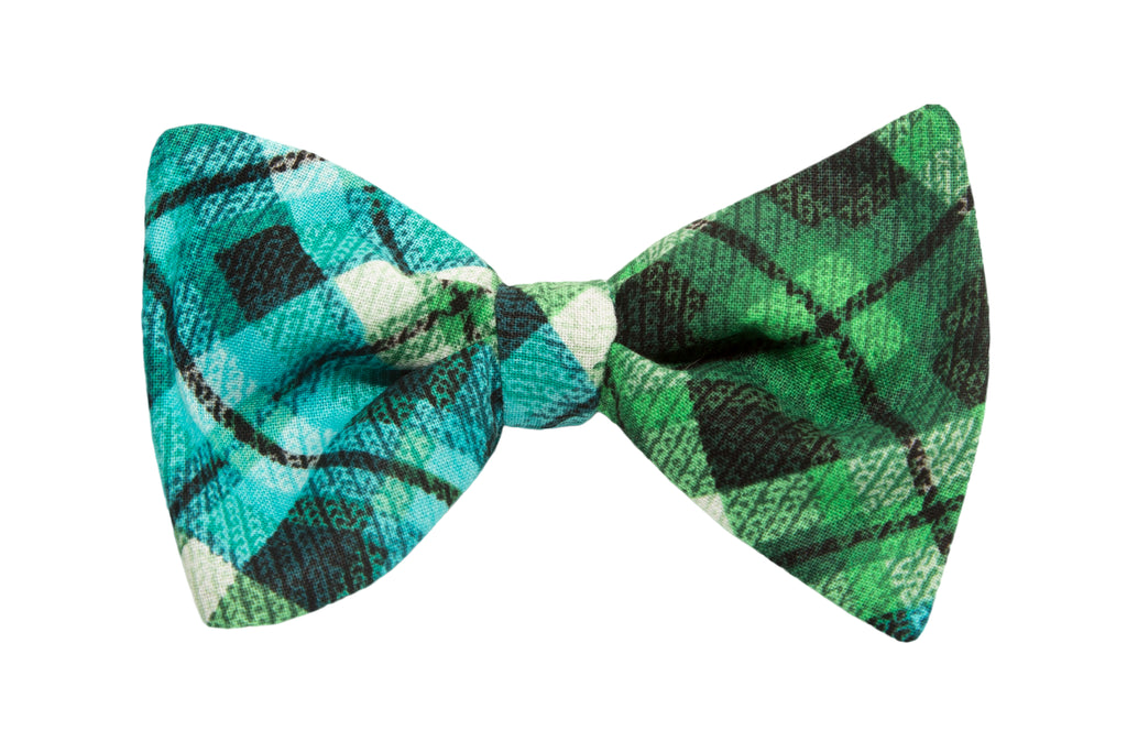 Lucky Guy in Green Adult Bow Tie