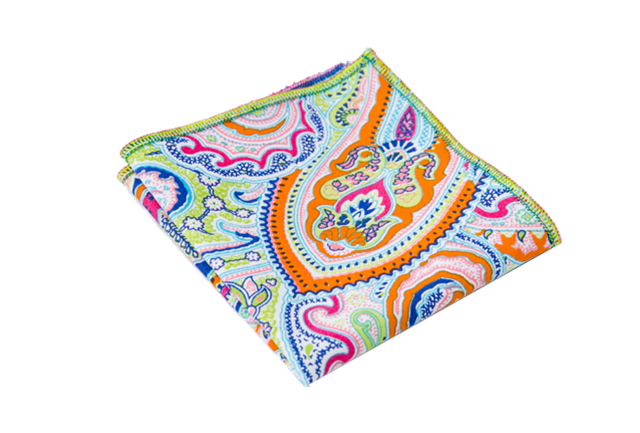Fine Paisley Adult Pocket Square