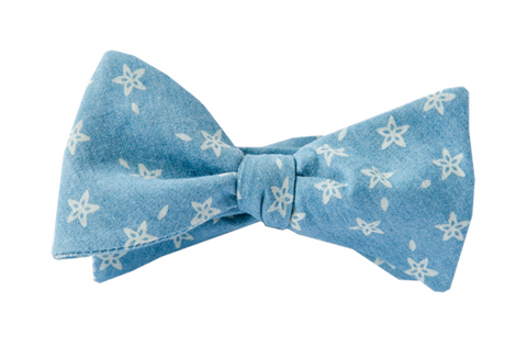Denim Starfish Youth Bow Tie