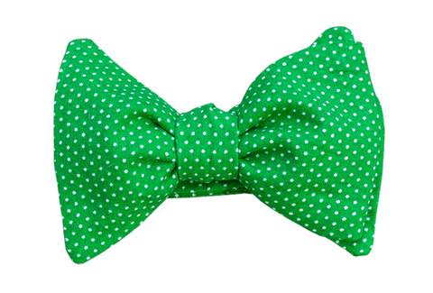 Dots on Green Youth Bow Tie
