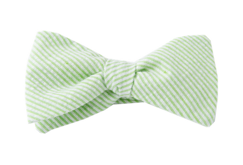 Green Seersucker Youth Bow Tie