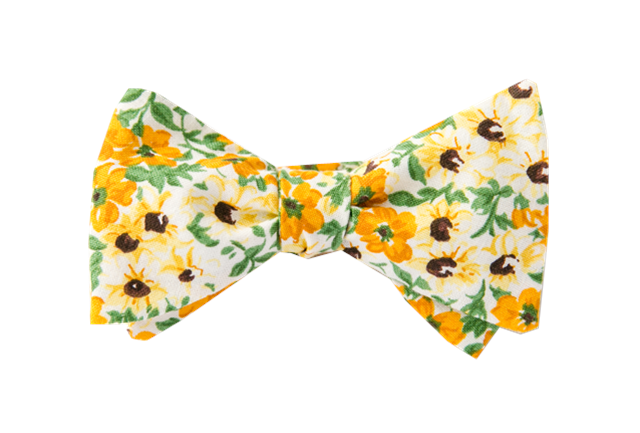 Sunny Sunflower Youth Bow Tie