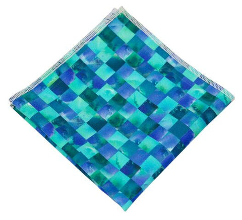 Blue Mosaic Pocket Square