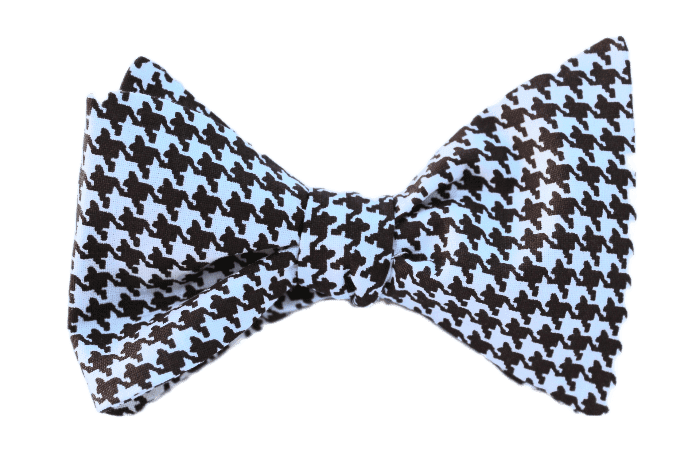 Dark Brown Houndstooth Adult Bow Tie