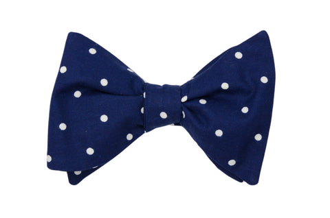 Blue with Dots Adult Bow Tie