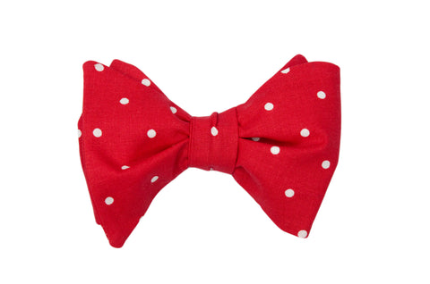 Red with Dots Adult Bow Tie
