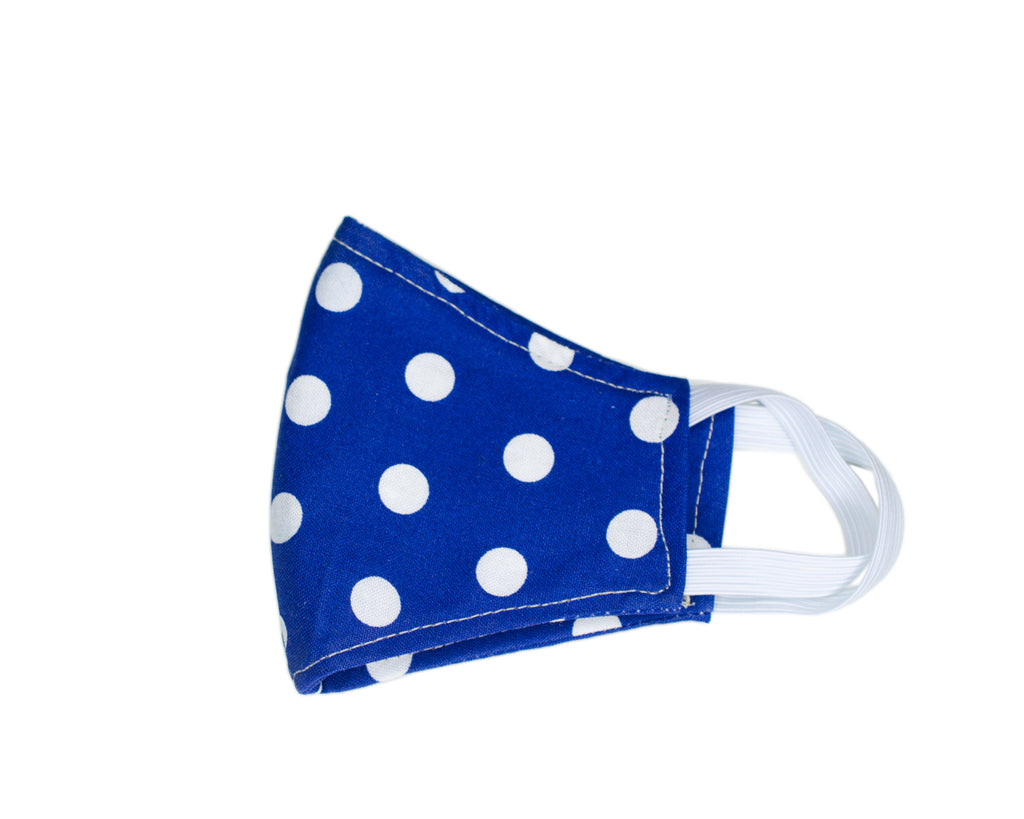 GoMo YOUTH Face Mask- Blue and White (PRE-ORDER AVAILABLE ONLY)