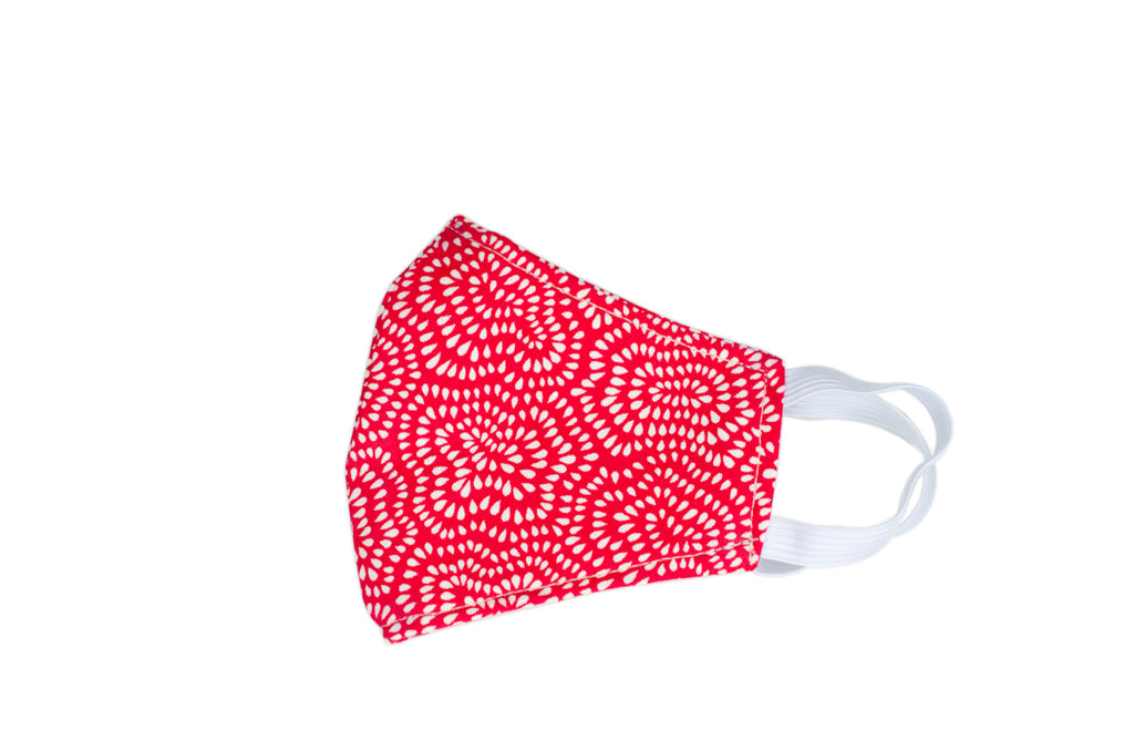 GoMo YOUTH Face Mask- Red and White