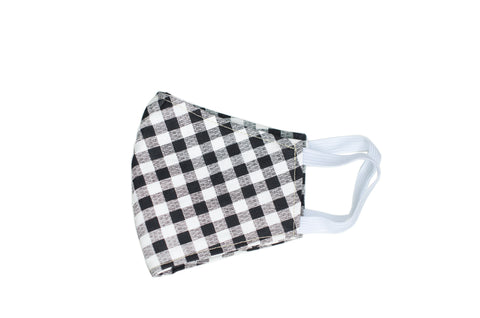 GoMo YOUTH Face Mask- Black & White Gingham (PRE-ORDER AVAILABLE ONLY)