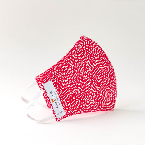 GoMo ADULT Face Mask- Red and White