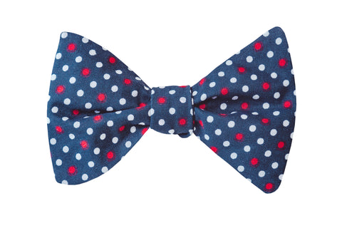 American Dots Adult Bow Tie