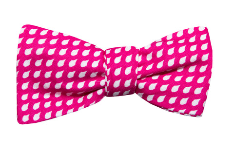 Pink Raindrops Youth Bow Tie