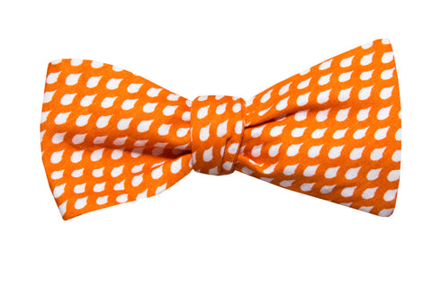 Orange Raindrops Youth Bow Tie