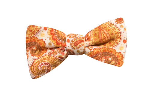 Poppy Paisley Youth Bow Tie