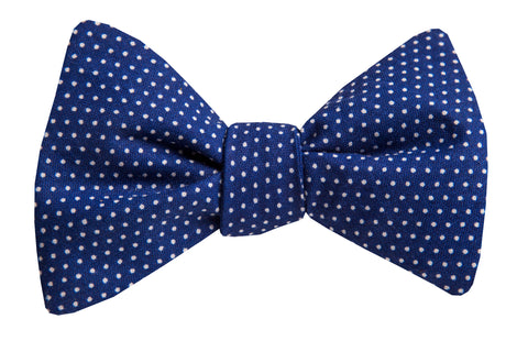 Dots on Navy Blue Bow Tie