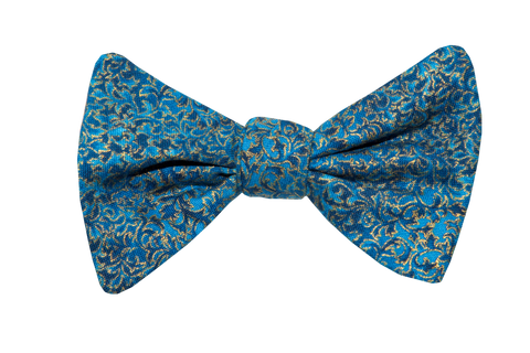 Renaissance Blue Adult Bow Tie