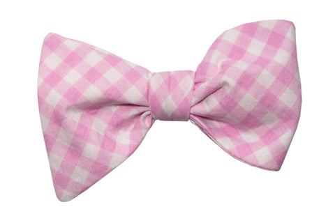 Pink Gingham Adult Bow Tie