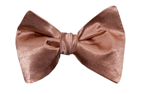 Blush Satin Bow Tie