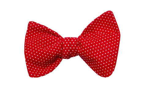 Dots on Red Adult Bow Tie