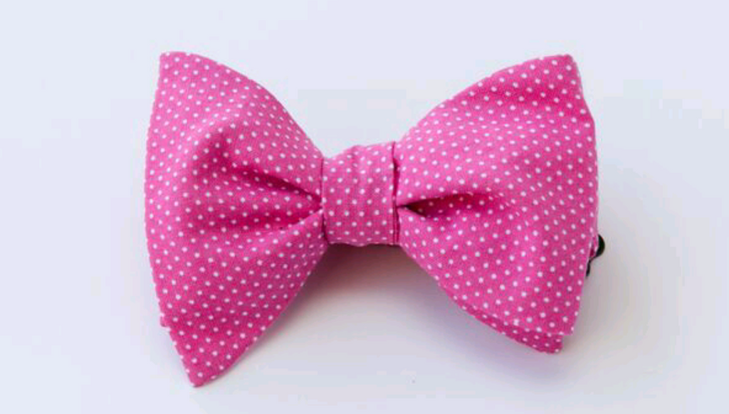 Dots on Pink Adult Bow Tie