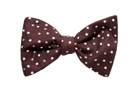 Brown with Dots Adult Bow Tie