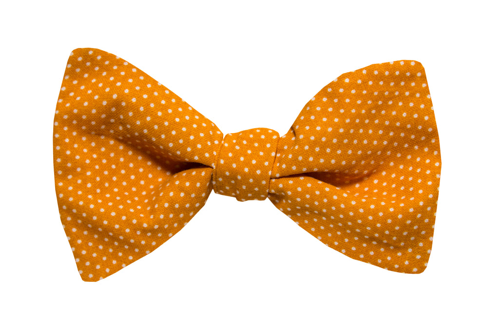 Dots on Gold Bow Tie