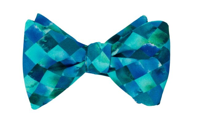 Blue Mosaic Adult Bow Tie