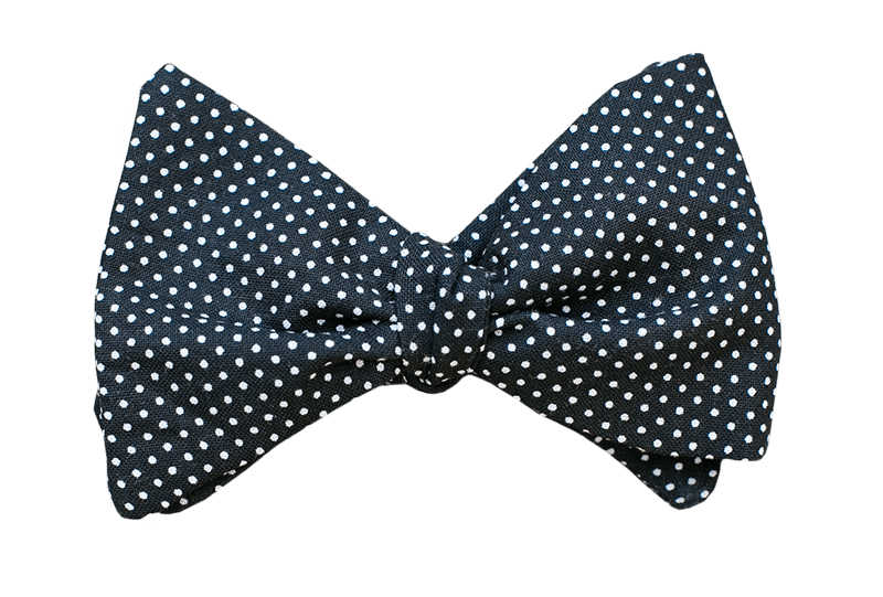 Dots on Black Youth Bow Tie