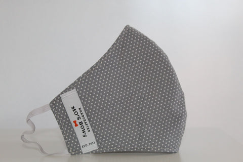 GoMo ADULT Face Mask - Dots on Grey